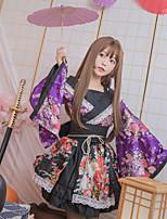 Недорогие -Вдохновлен Косплей Костюмы горничной / Косплей Аниме Косплэй костюмы Японский Кимоно кимоно Пальто Назначение Жен.