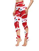 Недорогие -Жен. Штаны для йоги Бег Фитнес Тренировка в тренажерном зале Нижняя часть Спортивная одежда Дышащий Влагоотводящие Быстровысыхающий Подтяжка Эластичная
