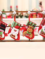 cheap -Santa Stocking Sock Candy Bags Christmas Party Tree Ornamets Pendants Gift Bag For Children Fireplace Hanging Decor Party Supply-4Pcs
