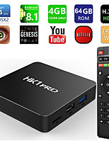 Недорогие -HK1 Pro Smart TV Box Android 8,1 Amlogic S905x2 4 ГБ 64 ГБ Макс 2,4 г / 5 г Dual Wi-Fi Поддержка USB3.0 BT4.2 4 К H.265 медиаплеер