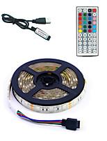 Недорогие -5 метров Гибкие светодиодные ленты / RGB ленты / Пульты управления 300 светодиоды SMD5050 1 пульт дистанционного управления 44Keys Разные цвета Водонепроницаемый / USB / Для вечеринок 5 V 1 комплект