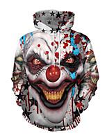 Недорогие -Скелет / Череп Косплэй Kостюмы Взрослые Муж. Стиль Хэллоуин Хэллоуин Фестиваль / праздник Полиэстер Серый Муж. Карнавальные костюмы / Кофты