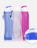 Недорогие -чашка 500 ml силикагель Портативные Складной для Походы Походы / туризм / спелеология Катание на пересеченной местности Фиолетовый Прозрачный Тёмно-синий