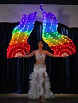 Недорогие -Аксессуары для танцев Сценический реквизит / Веерные завесы Жен. Выступление 100% шелк LED