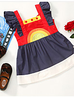 Недорогие -Дети (1-4 лет) Девочки Пэчворк Платье Красный