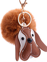 Недорогие -Брелок Собаки корейский Милая Мода Модные кольца Бижутерия Коричневый / Белый / Розовый Назначение Повседневные Свидание