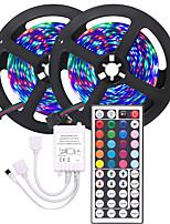 Недорогие -KWB 2x5M Гибкие светодиодные ленты / Наборы ламп / Пульты управления 600 светодиоды 3528 SMD 8mm RGB Можно резать / Градиент цвета 12 V 1 комплект
