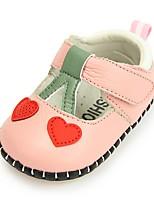 Недорогие -Девочки Детская праздничная обувь Кожа На плокой подошве Малыш (9м-4ys) Бежевый / Розовый Осень