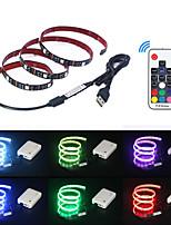 Недорогие -5 метров Гибкие светодиодные ленты / RGB ленты / Пульты управления 150 светодиоды SMD5050 17-клавишный пульт дистанционного управления Разные цвета Водонепроницаемый / USB / Для вечеринок 5 V 1