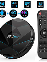 Недорогие -HK1 Mini Smart TV Box 4 ГБ оперативной памяти 64 ГБ ROM Android 9.0 Amlogic S905x2 2,4 г 5 г Wi-Fi Bluetooth H.265 4K HD медиаплеер