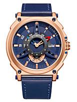 Недорогие -Муж. Спортивные часы Кварцевый Современный Стильные Натуральная кожа Черный / Небесно-голубой 30 m Календарь Повседневные часы Cool Аналого-цифровые На каждый день Мода -