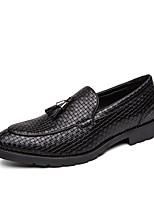 Недорогие -Муж. Кожаные ботинки Полиуретан Лето Туфли на шнуровке Черный / Коричневый / Серый