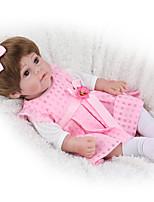 Недорогие -NPK DOLL Куклы реборн Куклы Мальчики Девочки 22 дюймовый Силикон - Безопасность Подарок Очаровательный Детские Универсальные Игрушки Подарок