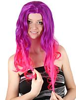 Недорогие -Косплей Гамора Aurora Косплэй парики Жен. 24 дюймовый Синтетика Разноцветный Лиловый Аниме