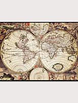 Недорогие -Отпечаток в раме Набор в раме - Карты Полистирен Постеры Предметы искусства