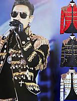 Недорогие -Принц Ретро Средневековый Пальто Муж. С кисточками Костюм Черный / Белый / Красный Винтаж Косплей Для вечеринок Длинный рукав