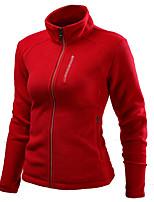 cheap -Women's Hiking Jacket Hiking Fleece Jacket Outdoor Solid Color Waterproof Windproof Fleece Lining Breathable Jacket Fleece Hunting Fishing Climbing Dark Grey White Red Blue Dark Navy / Warm
