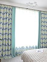 Недорогие -две панели современный минималистский стиль водная рябь имитация конопли шить стиль занавес гостиная спальня столовая детская комната занавес