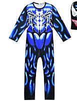 Недорогие -Дети Мальчики Уличный стиль С принтом Длинный рукав Набор одежды Синий