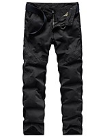 cheap -Men's Hiking Pants Hiking Cargo Pants Summer Outdoor Standard Fit Breathable Quick Dry Soft Sweat-wicking Cotton Pants / Trousers Bottoms Running Camping / Hiking Hunting Dark Grey Black Army Green