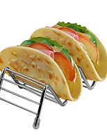 cheap -Wave Shape  Stainless Steel Taco Holders Mexican Food Rack Hot Dog Holder Stand Taco Rack Display