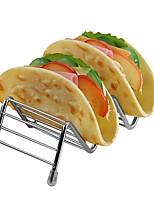 abordables -forme de vague en acier inoxydable taco titulaires mexicain alimentaire rack hot dog titulaire stand taco rack affichage