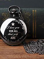 Недорогие -Муж. Карманные часы Кварцевый Старинный Черный Творчество Новый дизайн Cool Аналого-цифровые Винтаж - Черный