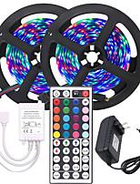 Недорогие -KWB 2x5M Гибкие светодиодные ленты / Наборы ламп / Пульты управления 600 светодиоды 3528 SMD 8mm 1 блок питания X 12V 3A RGB Можно резать / Градиент цвета 12 V 1 комплект