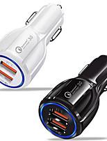 Недорогие -Автомобильное зарядное устройство USB зарядное устройство USB QC 3,0 2 USB-порта 3,1 DC 12V-24V для