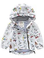 Недорогие -Дети Девочки Классический С принтом Куртка / пальто Белый