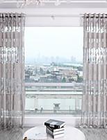 Недорогие -Modern Semi-Sheer 1 панель Прозрачный Гостиная   Curtains