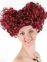 Недорогие -Косплей Королева сердец Косплэй парики Жен. 14 дюймовый Синтетика Блестящий завиток Красный Красный Аниме