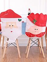 Недорогие -2шт санта клаус чехлы на стулья рождественский обед стол ну вечеринку красная шапочка