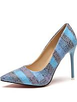 Недорогие -Жен. Обувь на каблуках На шпильке Заостренный носок Полиуретан Лето Оранжевый / Синий / Контрастных цветов