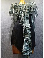 Недорогие -Латино Платья Жен. Учебный Покрытие пряжа С кисточками Платье