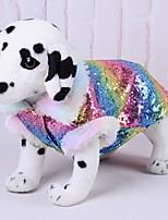 Недорогие -Собаки Инвентарь Одежда для собак Полоски Радужный Полиэстер Костюм Назначение Зима Праздник Хэллоуин