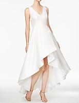 Недорогие -А-силуэт V-образный вырез Асимметричное Сатин Торжественное мероприятие Платье с от LAN TING Express