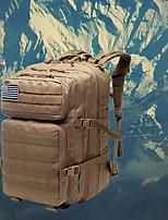 """Недорогие -40 L Заплечный рюкзак Дожденепроницаемый Водонепроницаемаямолния Пригодно для носки На открытом воздухе Пешеходный туризм Походы Горные лыжи Ткань """"Оксфорд"""" Оксфорд Черный Хаки"""
