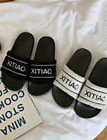 Недорогие -Женские тапочки / Тапочки для девочек Шлепанцы / Тапочки для гостей / Домашние тапки На каждый день Мех осла Один цвет Обувь