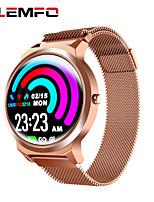 Недорогие -Для пары Смарт Часы Цифровой Стильные Нержавеющая сталь Черный / Золотистый / Розовый 30 m Пульсомер Bluetooth Smart Аналоговый Мода - Черный Золотистый Розовый Два года Срок службы батареи