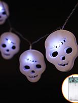 Недорогие -1.2 м хэллоуин череп строки огни 10 светодиодный белый теплый белый многоцветный водонепроницаемый ip44 ну вечеринку с привидениями украшения дома 1 шт.