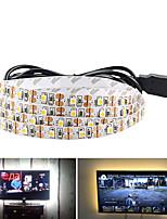 Недорогие -5 м USB гибкие светодиодные полосы света 300 светодиодов smd3528 8 мм теплый белый / белый / красный креатив / вечеринка / декоративные 5 В 1 шт.