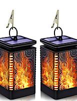 Недорогие -2шт 3 Вт открытый ретро пламя света / солнечный настенный светильник водонепроницаемый / солнечный / творческий теплый белый 1.2 В наружное освещение / бассейн / двор 6 светодиодных бусин