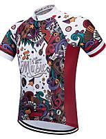 Недорогие -Vendull Муж. С короткими рукавами Велокофты Red and White Велоспорт Джерси Верхняя часть Дышащий Быстровысыхающий Анатомический дизайн Виды спорта 100% полиэстер Горные велосипеды Шоссейные велосипеды
