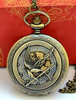 Недорогие -Муж. Карманные часы Кварцевый Старинный Бронза Творчество Новый дизайн Повседневные часы Аналоговый Винтаж - Бронзовый