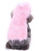 Недорогие -Собаки Коты Животные Костюмы Комбинезоны Одежда для собак Однотонный Животное Розовый Полиэстер Костюм Назначение Зима Хэллоуин