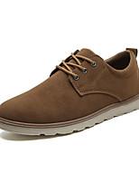 Недорогие -Муж. Комфортная обувь Полиуретан Лето Туфли на шнуровке Черный / Коричневый / Желтый