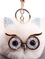 Недорогие -Брелок Сова европейский корейский Мода Модные кольца Бижутерия Черный / Светло-Розовый / Белый Назначение Подарок Повседневные
