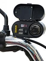 Недорогие -Мотоцикл водонепроницаемый зарядное устройство розетка 5 В 3.1a двойной usb розетка выключатель автомобиля светодиодный цифровой дисплей вольтметр прикуривателя