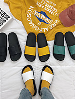 Недорогие -Женские тапочки / Тапочки для девочек Шлепанцы / Тапочки для гостей / Домашние тапки На каждый день ПВХ Один цвет Обувь